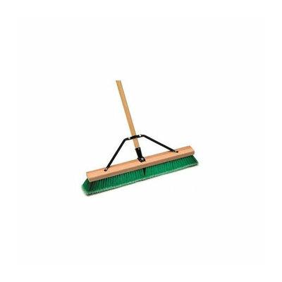Laitner Brush Company Laitner Brush 18 Push Broom Indr Sft Grn/Grey Assembled