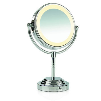 Conair Round Double-Sided Pivoting 5 inch Mirror Head  5x/1x Magnification