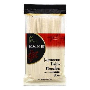 Kame Ka-Me Japanese Thick Udon Noodles, 8 oz (Pack of 12)