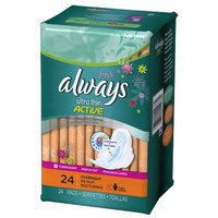 Always Ultra Thin Fresh Size 4 Overnight Pads with Wings Scented