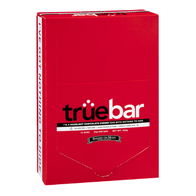 Truebar Hazelnut Chocolate Cherry Bar - 12 CT
