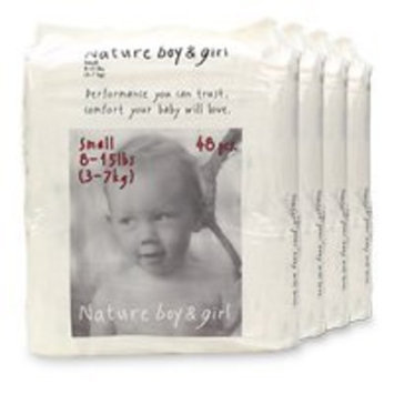 Nature Boy & Girl Disposable Diapers, Extra Large (30 lbs +) 120 ea