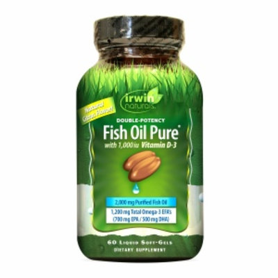 Irwin Naturals Double-Potency Fish Oil with Vitamin D3