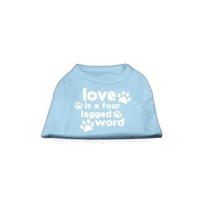 Ahi Love is a Four Leg Word Screen Print Shirt Baby Blue XL (16)