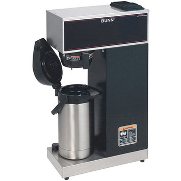 Bunn 60.8-cup Commercial Pourover Airpot Coffee Maker, 33200.0010, Black/Stainless
