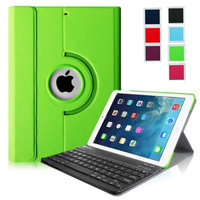 Fintie iPad Air Keyboard Case - Ultra Slim 360 Degree Rotating Stand Cover with Wireless Bluetooth Keyboard, Green