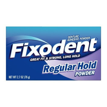 Fixodent Denture Adhesive Powder, Bottle Original, 2.7-Ounce Boxes (Pack of 4)