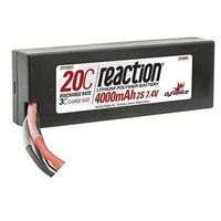 Reaction 7.4V 4000mAh 2S 20C LiPo Hard Case: TRA