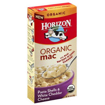 Horizon Organic Mac Pasta Shells & White Cheddar Cheese, 6 oz, (Pack of 12)
