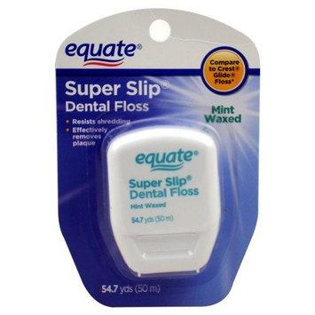 Equate - Super Slip Dental Floss - Mint Waxed, 54.7 Yards