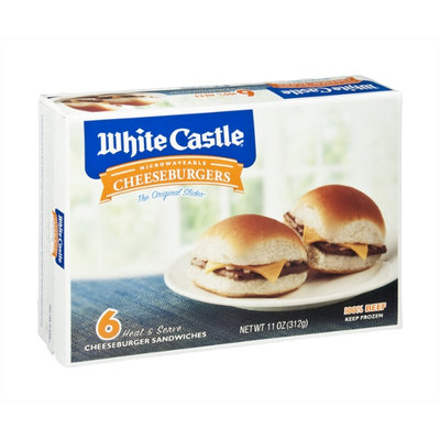 White Castle The Original Slider Microwavable Cheeseburgers - 6 CT
