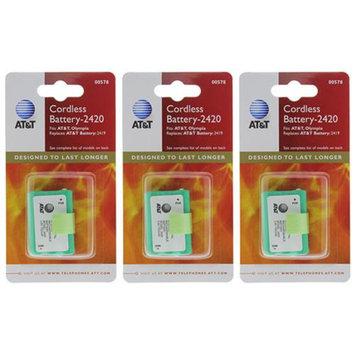 AT & T ATT 89-1318-00 (3-Pack) Telephone Batteries