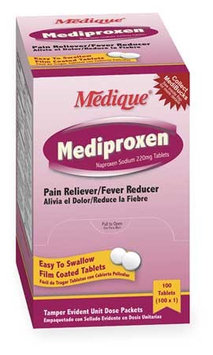 MEDIQUE 23733 Pain Relief, Tablet,220mg, PK100