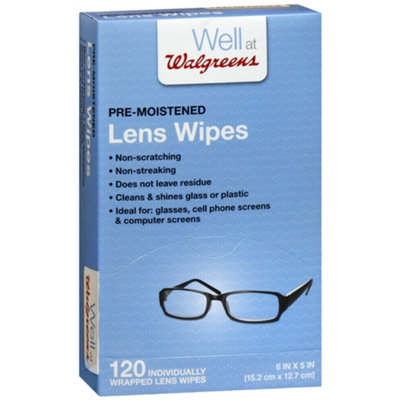Walgreens Pre-Moistened Lens Wipes