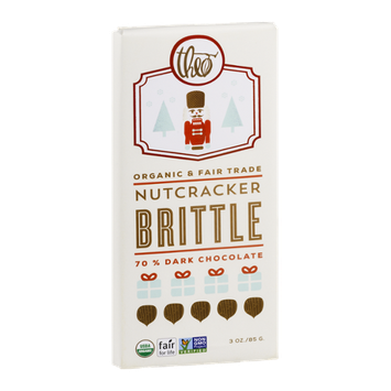 Theo Organic & Fair Trade Chocolate Nutcracker Brittle 70% Dark