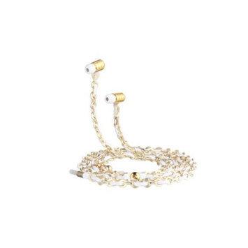 Fusion By Dazzle DZ10000 Jewel Earphone Lotus Gold