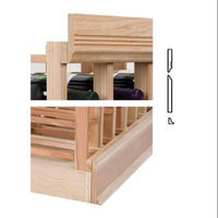 Wine Cellar Innovations 4 ft. Molding w 5.25 OG Base & Crown (Rustic Pine - Unstained)