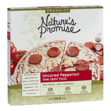 Nature's Promise Uncured Pepperoni Thin Crust Pizza