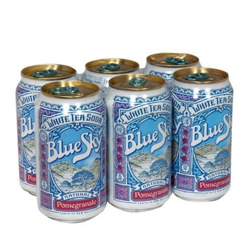 Blue Sky Soda White Tea Pomegranate, 12-ounces (Pack of4)
