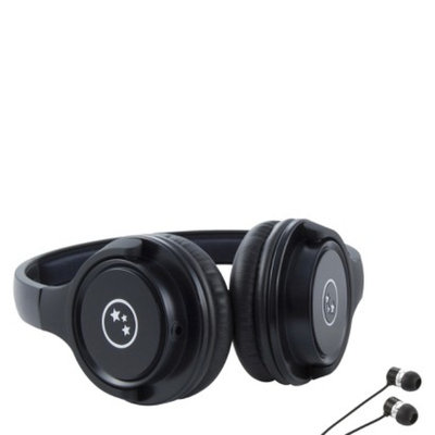 Able Planet Travelers' Choice Stereo Headphones - Black