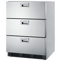 Summit SP6DS7 24 Triple Drawers Refrigerator with Fan Cooled Compressor