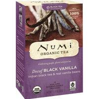 Numi Organic Tea Decaf Black Vanilla, Full Leaf Decaf Black Tea, 16-Count Tea Bags (Pack of 3)