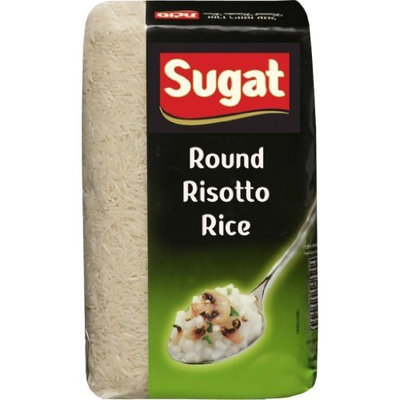 Sugat Round Risotto Rice (Kosher for Passover), 2-Pound Packages (Pack of 6)