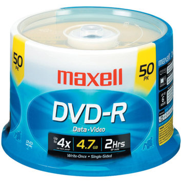 Maxell 638011 DVD-R Discs 4.7GB 16x Spindle Gold 50/Pack