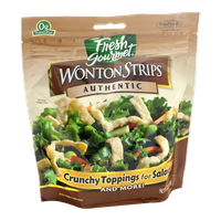 Fresh Gourmet Wonton Strips Authentic