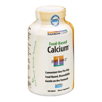 Rainbow Light Food-Based Calcium Tablets - 180 CT