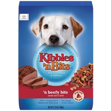 Kibbles 'n Bits Beefy Bits Savory Beef Flavor Dry Dog Food, 17.6-Pound