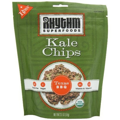 Rhythm Superfoods Texas Bar-B-Q Kale Chips, 2-Ounce (Pack of 4)