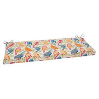 Pillow Perfect Outdoor Bench Cushion - White/Orange Birds