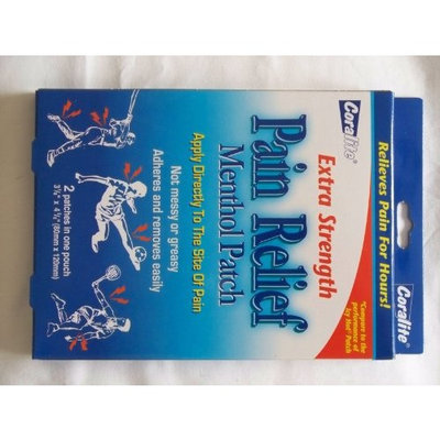 Coralite Extra Strength Pain Relief Menthol Patch, 2 Patches