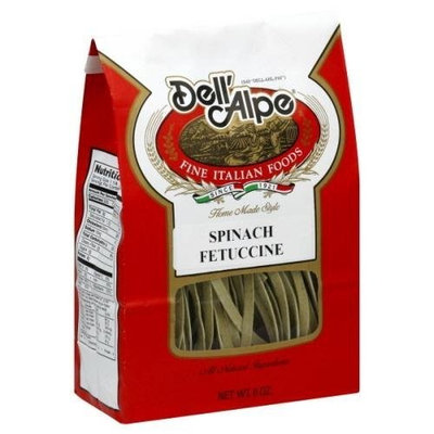 Dell' Alpe Spinach Fettuccine, 8-Ounce (Pack of 6)