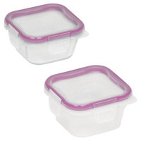 Snapware 4-Piece Total Solution Small Square Food Storage Containers
