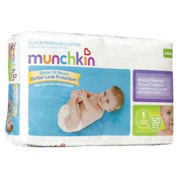 Munchkin Super Premium Diapers Jumbo Pack - Size 1 (50 Count)