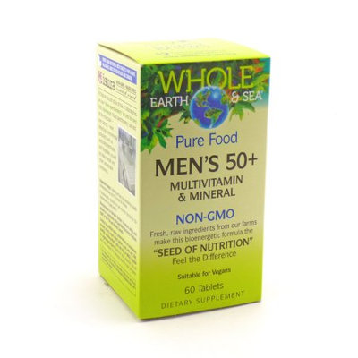 Whole Eart & Sea Men's 50+ Multivitamin & Mineral Natural Factors 60 Tabs