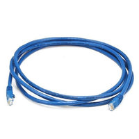 Monoprice 7FT 24AWG Cat5e 350MHz UTP Bare Copper Ethernet Network Cable - Blue