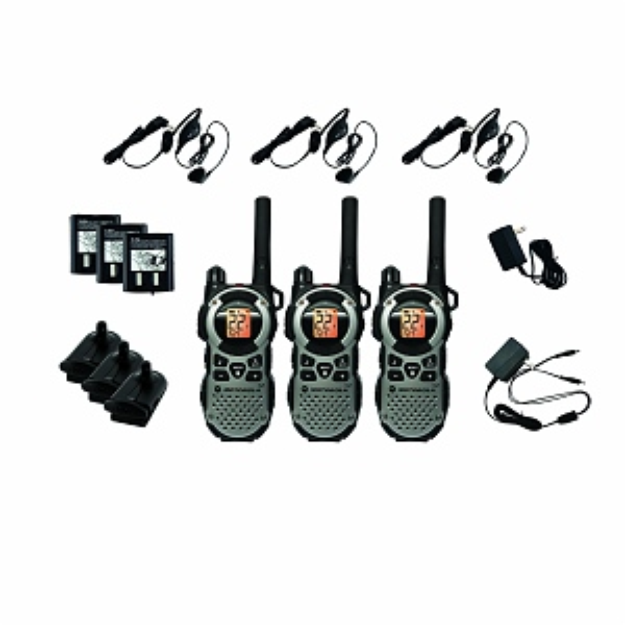 Giant Motorola MT352R FRS Two-Way Weatherproof Radio Triple Pack