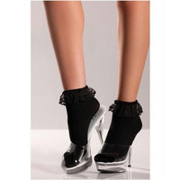 Be Wicked Women's Anklets, Black, One Size