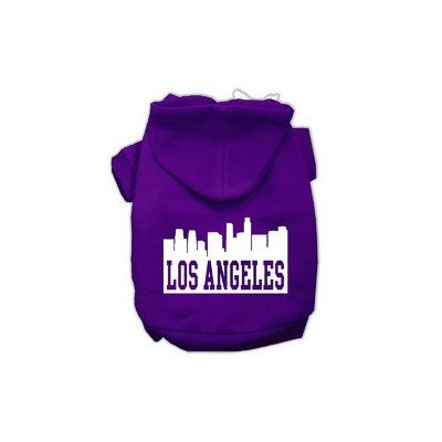 Mirage Pet Products Los Angeles Skyline Screen Print Pet Hoodies Purple Size XS (8)