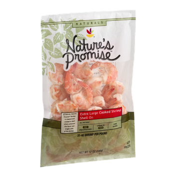 Nature's Promise Naturals Extra Large Cooked Shrimp Shell On - 31-40 CT