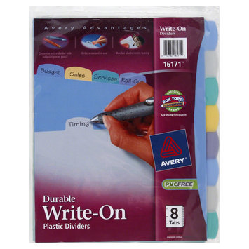 Avery Durable Poly Write-On Tab Dividers