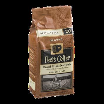 Peet's Coffee Brazil Minas Naturais Medium Roast Ground Coffee