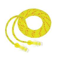 Peltor Tri-Flange Earplugs, Cloth Corded P3001