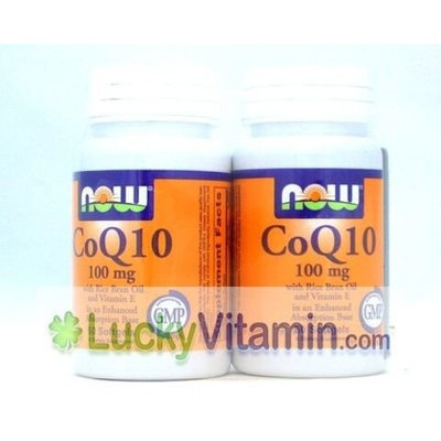 CoQ10 100 mg w/Vitamin E Twinpack Now Foods 2-50's Softgel
