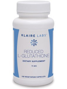 Klaire Labs, Reduced L-Glutathione 75 mg 100 vegcaps