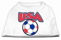 Ahi USA Soccer Screen Print Shirt White XL (16)