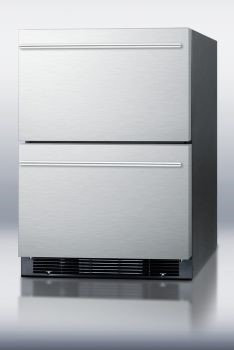 Summit Appliance Compact Refrigerator 4.8 cu. ft. Mini Refrigerator in Stainless Steel SPRF2D